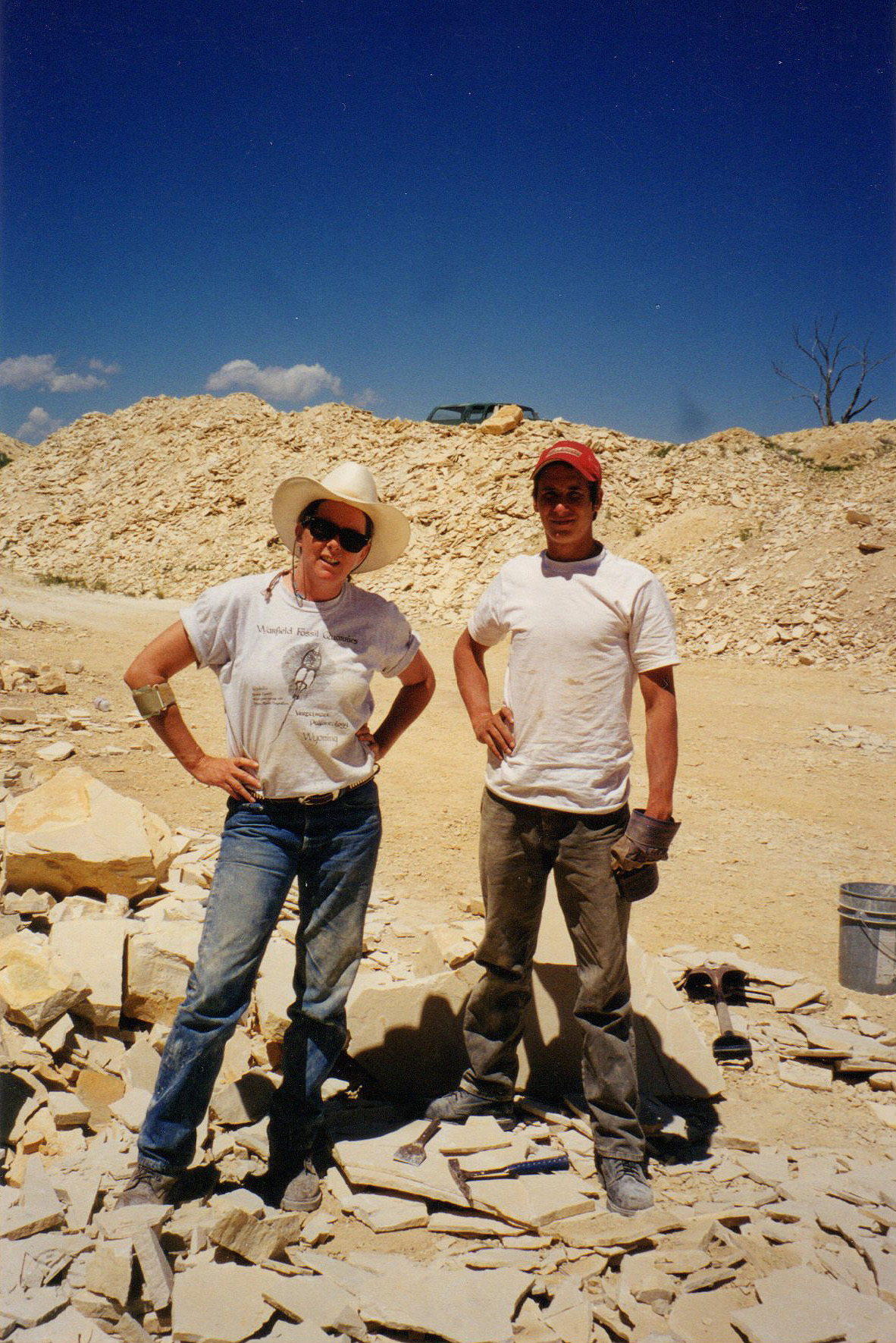 At the fossil fish quarry in Wyoming