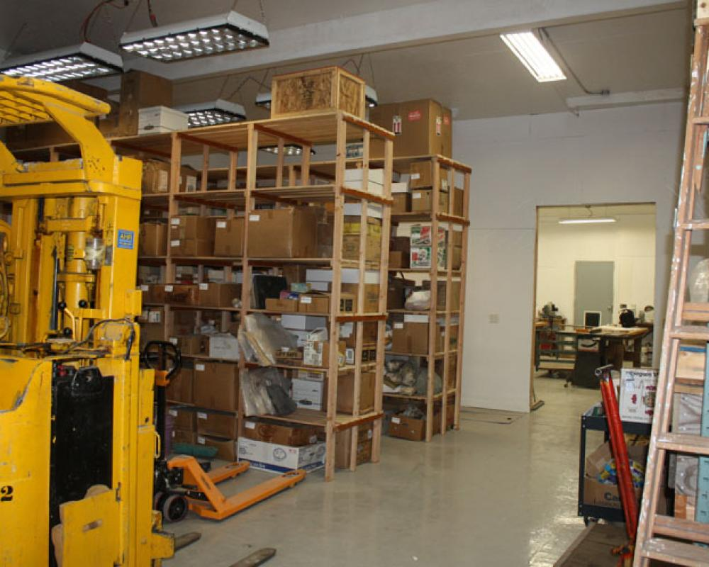 Part of our warehouse and lab